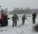 Тульские огнеборцы ликвидировали условное возгорание в селе Прудное