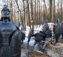 В Детском парке Новомосковска восстановили богатырей
