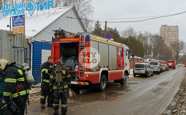 В Туле загорелся тир «Динамо»