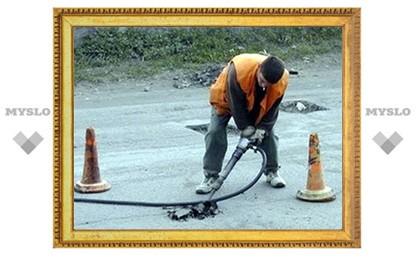 В Туле завершить ремонт дорог помешала погода
