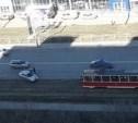 В Туле на Павшинском мосту пьяный водитель влетел в бордюр