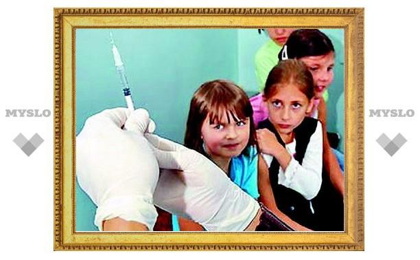В Новомосковске привили детей