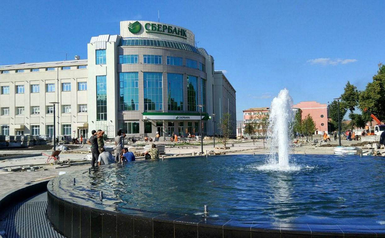 На Крестовоздвиженской площади в Туле заработал фонтан