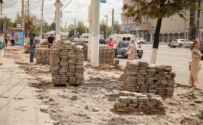 В Туле на ремонт тротуара на ул. Советской потратят около 22 млн рублей