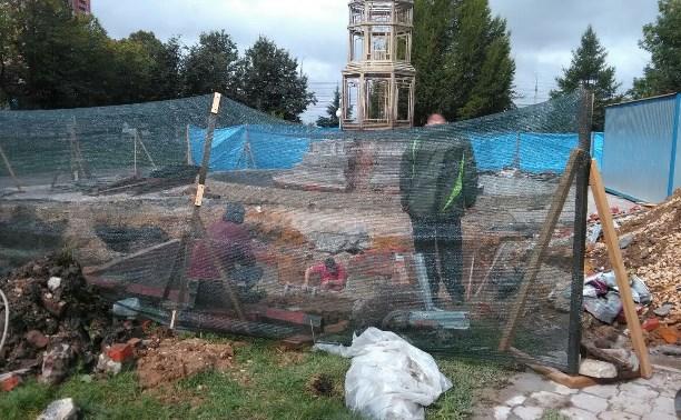 Начался ремонт фонтана в Могилевском сквере