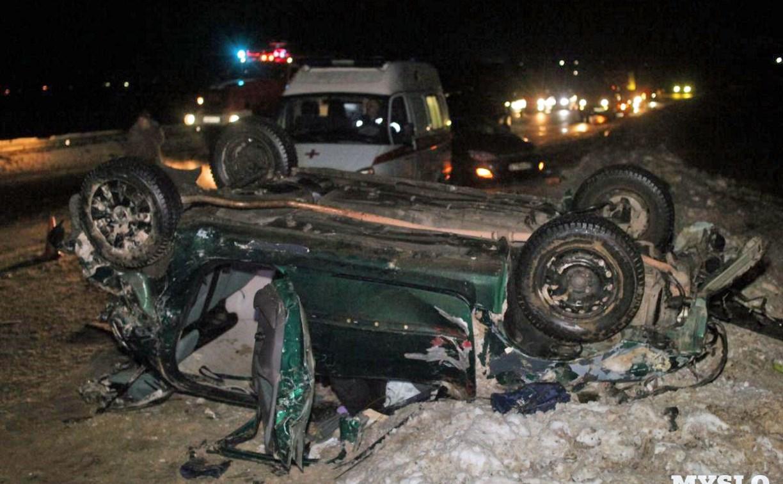 Водитель перевернувшегося на трассе «Тула – Новомосковск» Peugeot получила страшные травмы