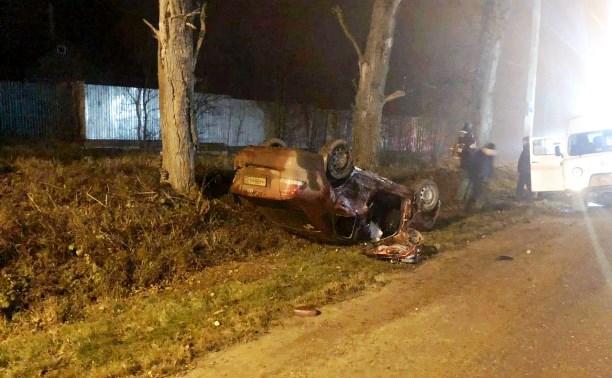 В лобовом столкновении под Тулой пострадали два человека