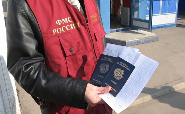 В ходе спецоперации УФМС в Новомосковске задержан автобус с нелегалами