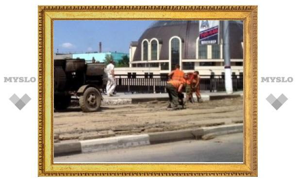 В Туле на Зареченском мосту пробка станет еще больше