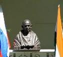 В Ясной Поляне установили бюст Махатмы Ганди