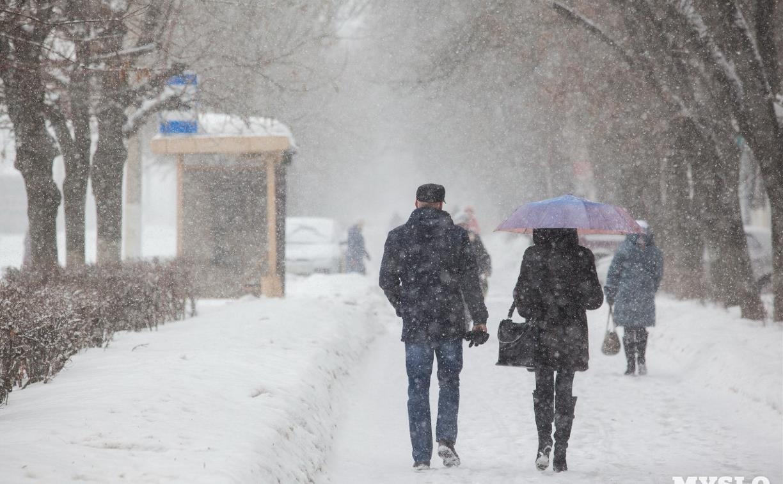 Метеопредупреждение: на Тулу обрушится снегопад