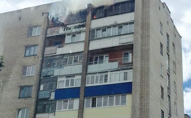 В Новомосковске горела девятиэтажка