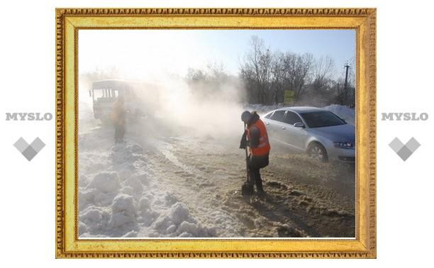 Прорыв водопровода в Маслово скоро будет устранен