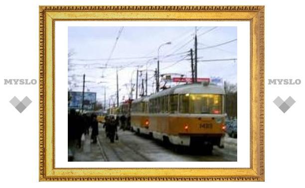 В Туле стоят трамваи