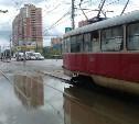 В Туле из-за непогоды трамваи ходят по измененному маршруту