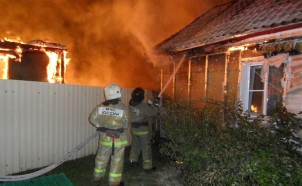 В Скуратово на пожаре пострадал мужчина