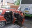 На ул. Циолковского «шестёрка» протаранила автобус №1