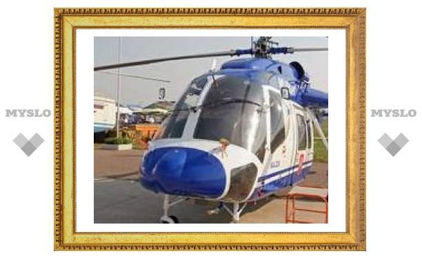 Упавший на юге Москвы вертолет оказался милицейским