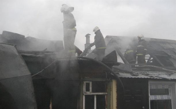 В Ленинском районе обрушилась кровля жилого дома