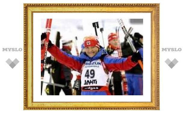 Российские биатлонисты взяли одну бронзу в двух спринтерских гонках