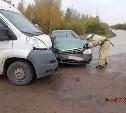 В Киреевском районе столкнулись такси и микроавтобус