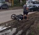 На Веневском шоссе «десятка» столкнулась с мотоциклистом