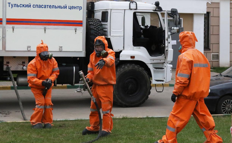 Сотрудники МЧС продолжают санобработку территорий в Тульской области