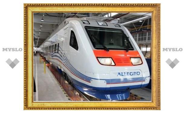 """В Санкт-Петербурге представили поезд """"Аллегро"""""""