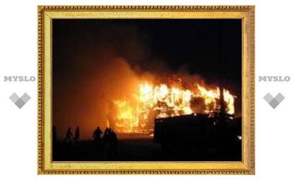 Под Тулой сгорело четыре дачных дома