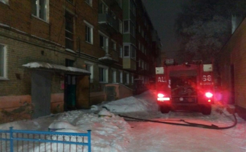 Из горящего дома в Богородицке пожарные спасли семь человек