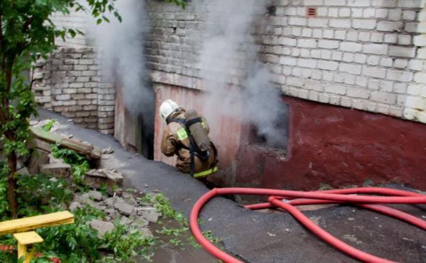 В Белёвской пятиэтажке загорелся подвал