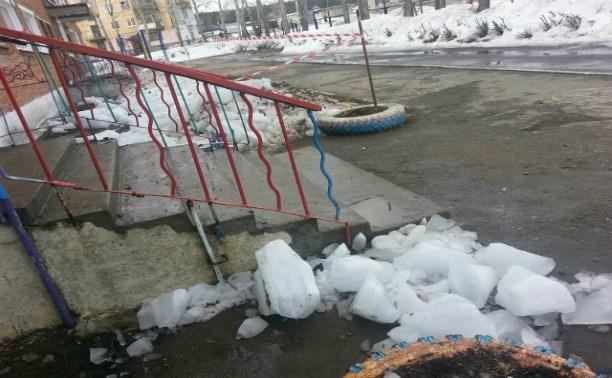 Пострадавший от глыбы льда в Щёкино сам нарушил требования безопасности