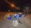 Мотоциклист «догнал» легковушку на ул. Рязанской в Туле