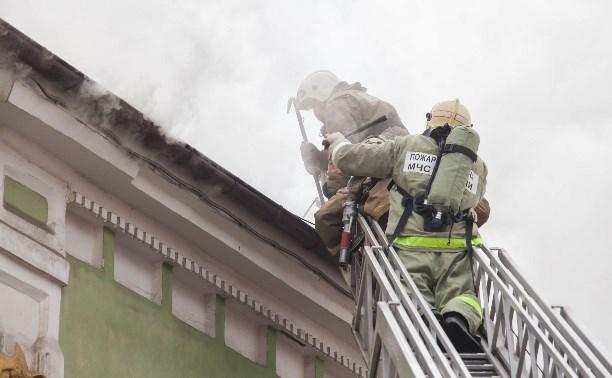 В Туле пожарные ликвидировали возгорание в магазине «Беларусь мебель»