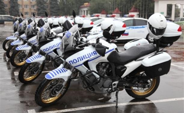 Подразделения ГИБДД получили пять новых мотоциклов «Хонда»