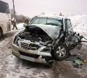 В Ясногорском районе столкнулись внедорожник и пассажирский автобус