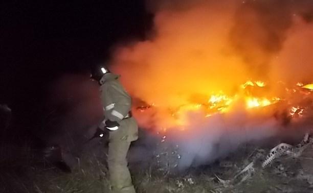 В садовом товариществе в Туле сгорели дача и сарай