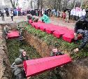 В Белевском районе перезахоронили останки красноармейцев и детдомовцев