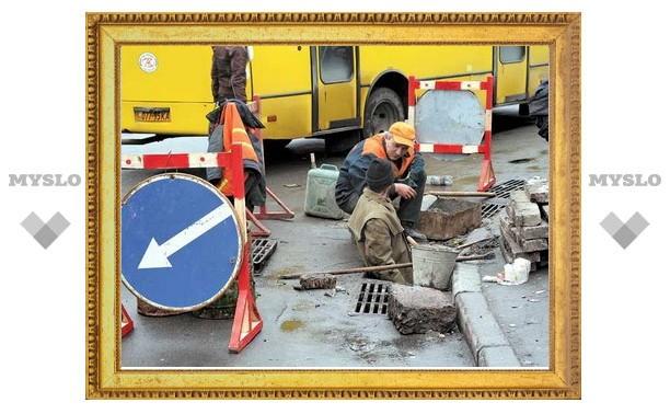 В Туле ремонт дорог отстает от графика из-за дождей