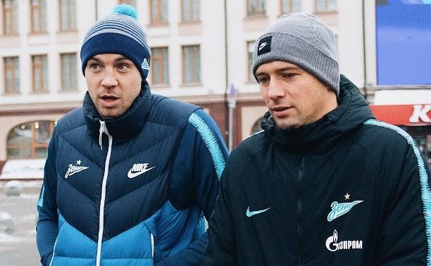 Футболисты «Зенита» прогулялись по заснеженной Туле
