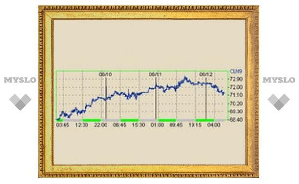 Стоимость барреля нефти опустилась до 71 доллара