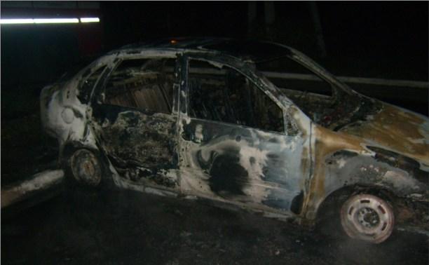 В Ленинском районе ночью сгорел автомобиль
