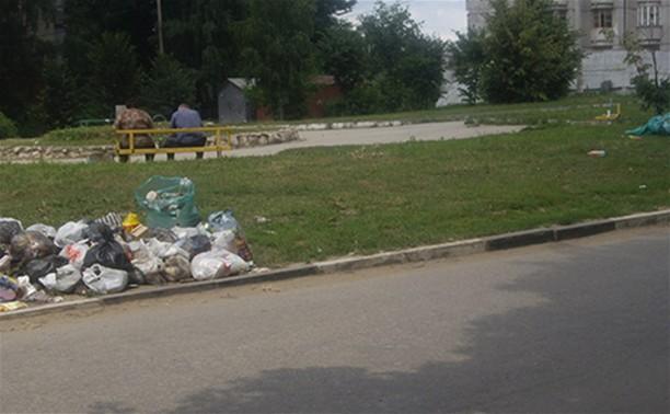 В Криволучье появилась своя мусорная аллея