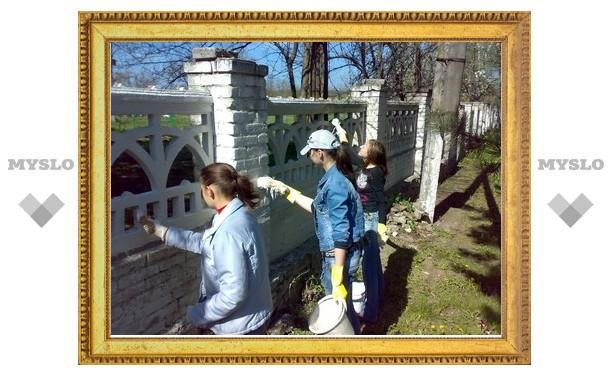 Косогорский парк обустроили школьники