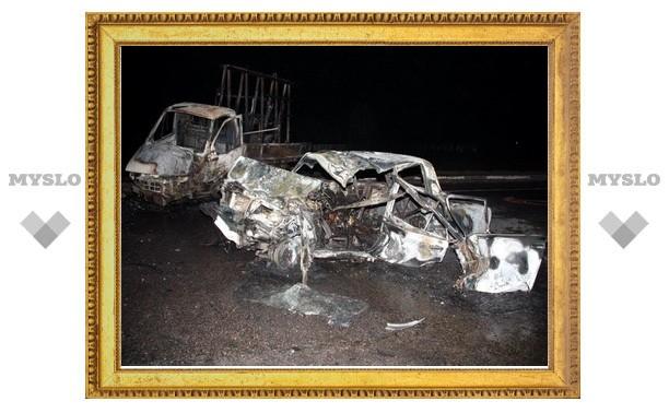 В аварии на трассе Калуга-Тула сгорели трое человек