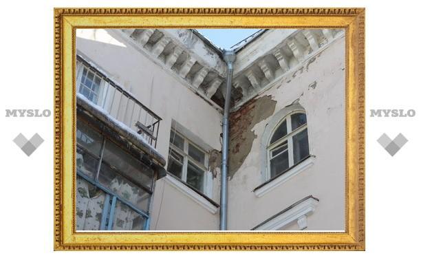 В Туле обрушилась стена жилого дома