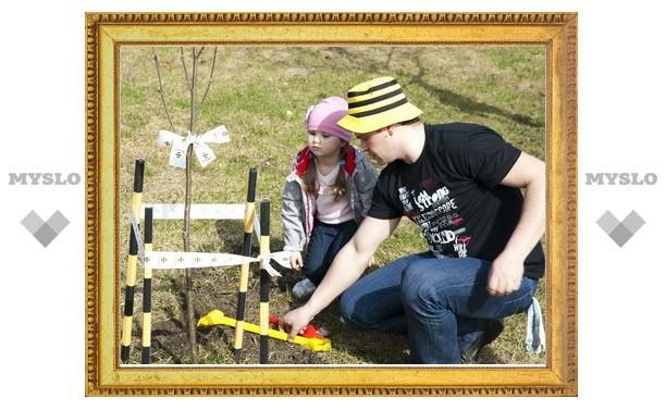 Компания «Билайн» посадила аллею из рябин в Могилевском сквере Тулы