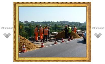 В Туле обвалилась часть моста