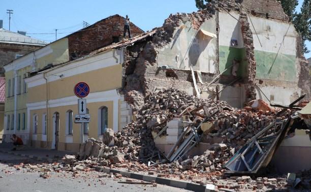 В историческом центре Тулы снесли дом: фото и видео