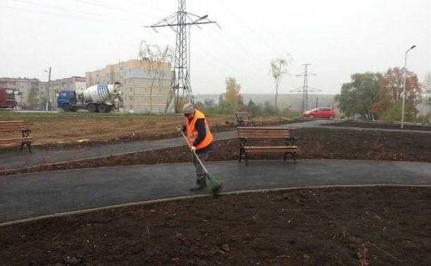 В Туле на улице Новоселов благоустраивают сквер